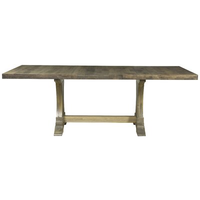 Augusto Maple Dining Table Color: Aurora, Size: 29.75 H x 80 W x 42 D