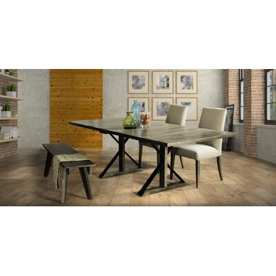 Marx Extendable Dining Table Base Color: Shadow, Size: 29 H x 42 W x 60 D
