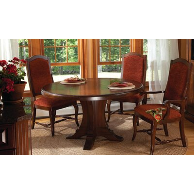 Geneve Maple Dining Table Color: Distressed Walnut, Size: 29.75 H x 54 W x 54 D