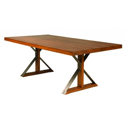 Marx Dining Table Base Color: Shadow, Size: 29 H x 42 W x 80 D