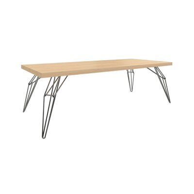 Sharpe Dining Table Top Color: Shadow, Size: 42 W x 60 L