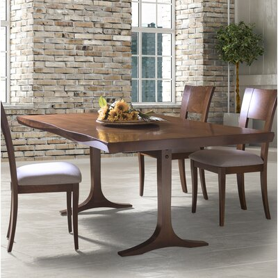 Sharma Dining Table Base Color: Shadow, Size: 29 H x 42 W x 96 D, Top Color: Silver