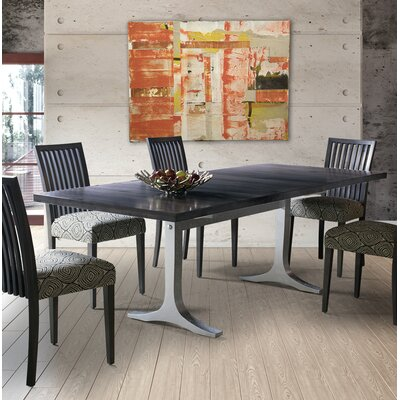 Sharma Dining Table Base Color: Shadow, Size: 29 H x 36 W x 72 D, Top Color: Silver