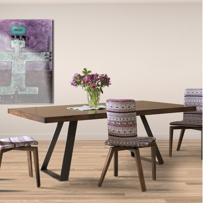 Mascorro Straight Edge Dining Table Base Color: Shadow, Size: 42 W x 80  L