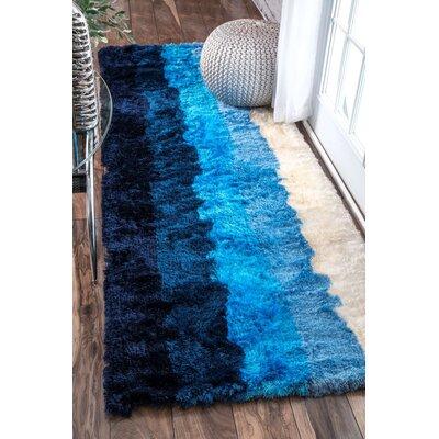 Thomas Paul Hand-Tufted Blue Area Rug Rug Size: 4 x 6