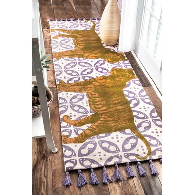 Thomas Paul Purple Area Rug Rug Size: Runner 28 x 8