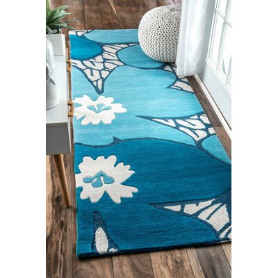 Thomas Paul Hand-Tufted Blue Area Rug Rug Size: 4 x 6