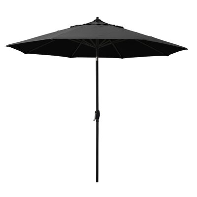 9 Market Umbrella Fabric: Black