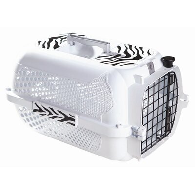 Catit Style Tiger Voyager Pet Carrier Size: Medium (12 H x 14.8 W x 22 L), Color: White