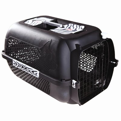 Dogit Tiger Voyager Pet Carrier Color: Black, Size: Large (14.5 H x 16.7 W x 24.3 L)