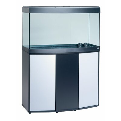 Fluval Vicenza Complete Aquarium Kit Size: 49 H x 36 W x 16.25 D, Finish: Black / Silver