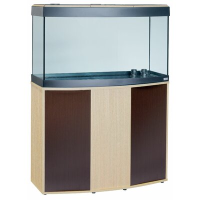 Neo Fluval Vicenza Complete Aquarium Kit Size: 52.5 H x 48 W x 18 D, Finish: Light Oak / Walnut