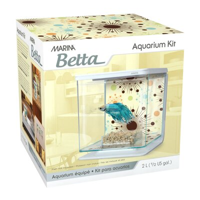 Marina 0.5 Gallon Fireworks Betta Aquarium Kit