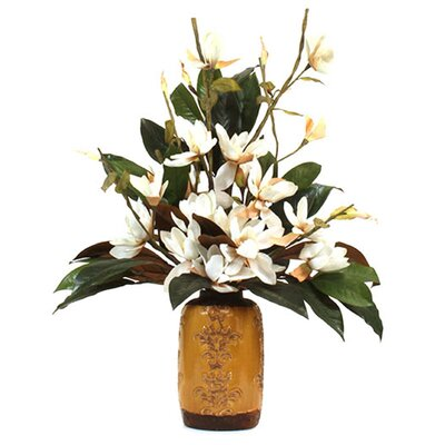 Magnolias in Oriental Vase image
