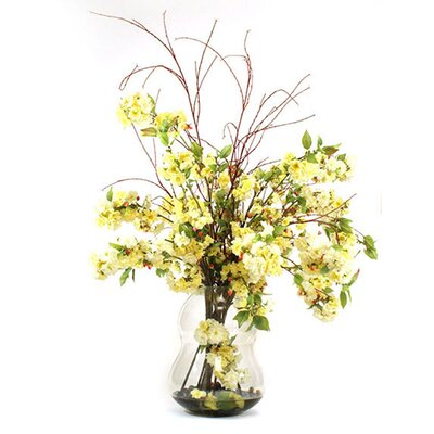 Blossoms in Glass Vase image