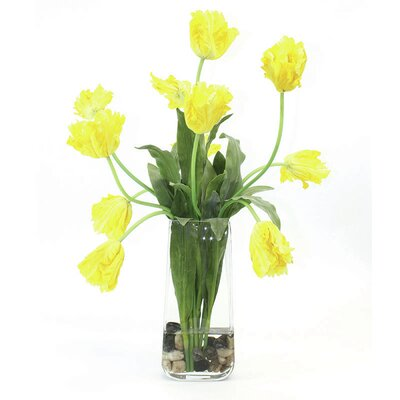 Tulips in Glass Vase image
