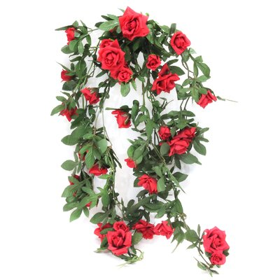 Faux Hanging Rose Bush Flower