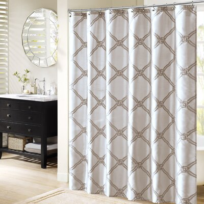 Teramo Shower Curtain Color: White
