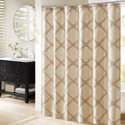 Teramo Shower Curtain Color: Ivory