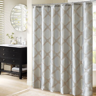 Teramo Shower Curtain Color: Blue