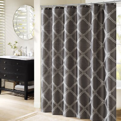 Teramo Shower Curtain Color: Charcoal