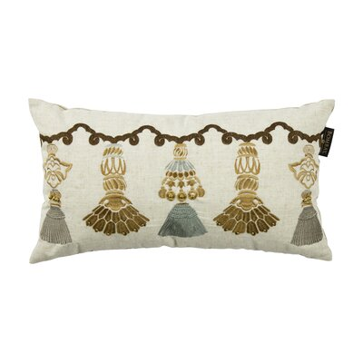 India Tassels Lumbar Pillow