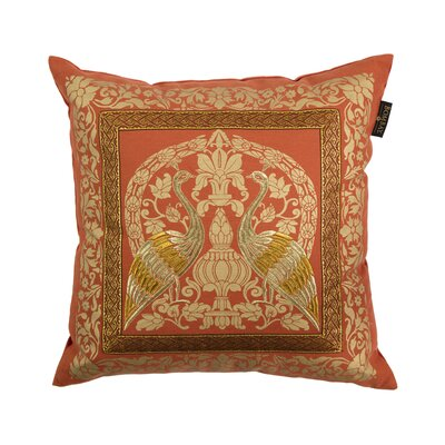 Crane Sari 20 Square Throw Pillow