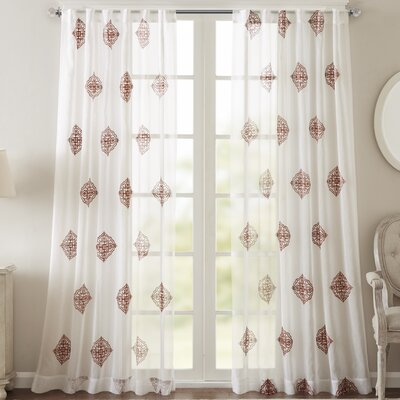 Massa Single Curtain Panel Size: 50 W x 95 L, Color: Spice