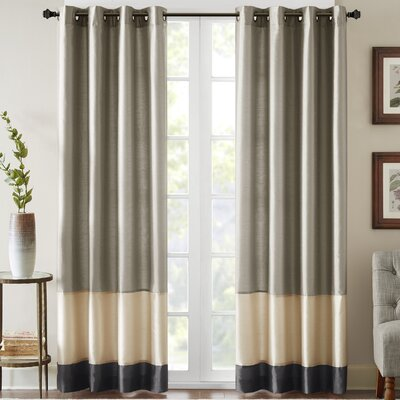 Conner Single Curtain Panel Size: 50 W x 95 L, Color: Pewter