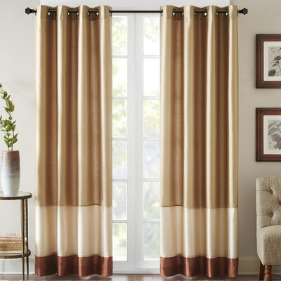 Conner Single Curtain Panel Size: 50 W x 95 L, Color: Gold