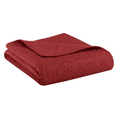 Taryn Velvet Throw Color: Red