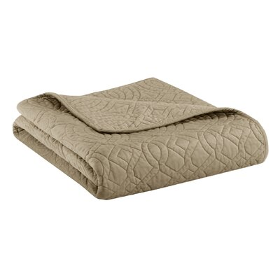 Taryn Velvet Throw Color: Khaki