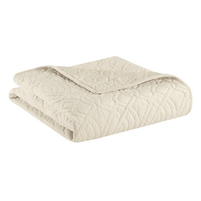 Taryn Velvet Throw Color: Ivory