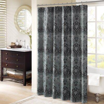 Norton Chenille Shower Curtain Color: Gray
