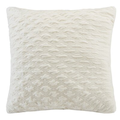 Victoria Texured Plush Euro Pillow Color: Ivory