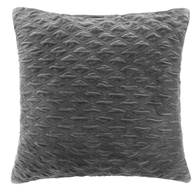 Victoria Texured Plush Euro Pillow Color: Gray