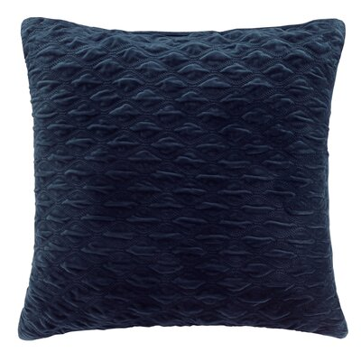 Victoria Texured Plush Euro Pillow Color: Navy