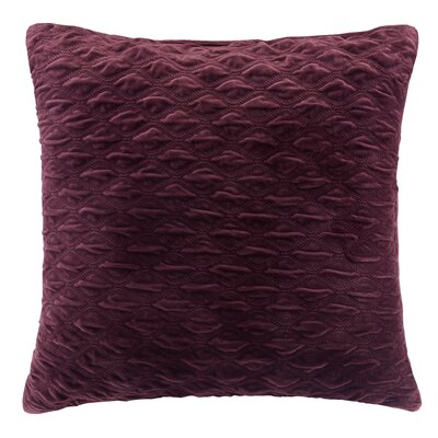 Victoria Texured Plush Euro Pillow Color: Purple