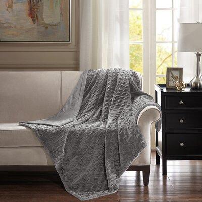 Victoria Throw Color: Gray, Size: 80 W x 96 L