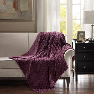 Victoria Throw Color: Purple, Size: 80 W x 96 L