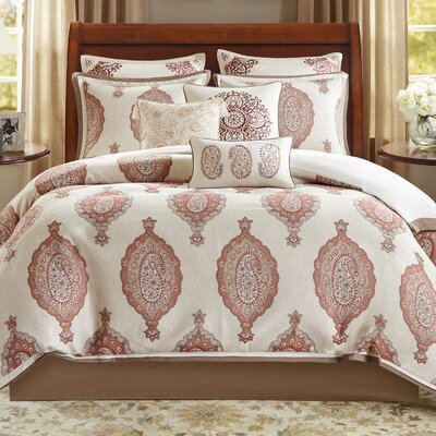 Estella 10 Piece Comforter Set Size: King