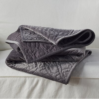 Taryn Velvet Throw Color: Gray