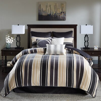 McCord Bombay Jacquard Comforter Set Size: California King