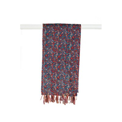 Kantha Cotton Bed Runner Color: Blue/Brown