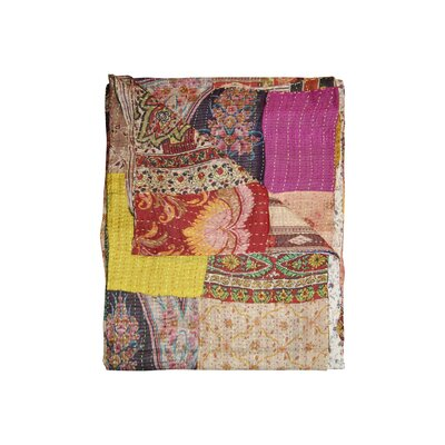 Kantha Silk Quilt Throw Blanket