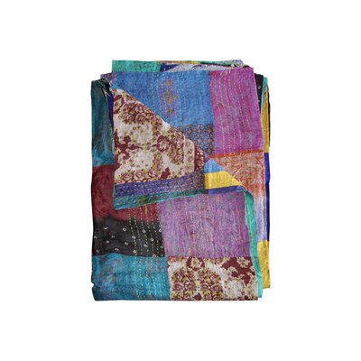 Kantha Silk Quilt Throw