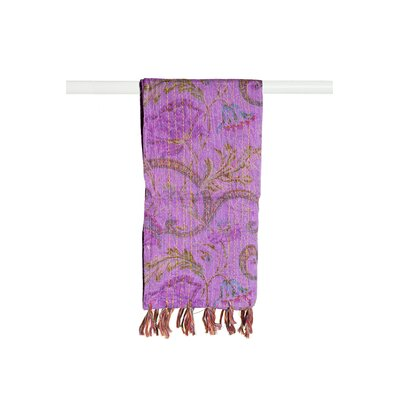 Kantha Cotton Bed Runner Color: Purple