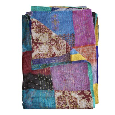 Kantha Silk Quilt Throw