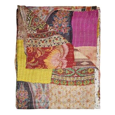 Kantha Silk Quilt Throw Blanket