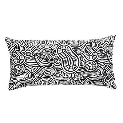 Agua Lucky Eight Cotton Lumbar Pillow